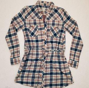 Element Flannel Tunic Top size Medium